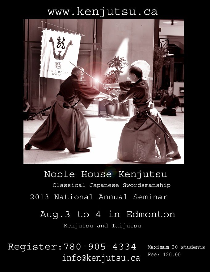 Noble House Kenjutsu Seminar - Edmonton, August 2013